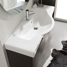 Light 2 Ceramic Specialty Drop-In Bathroom Sink with Overflow Acquaviva