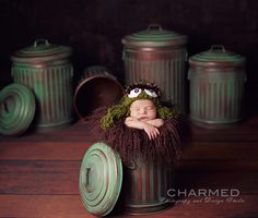 Oscar the Grouch Trash Can Props - NEW - Photography Prop, $30.00 by TFJ Designs