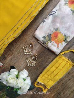 Beautiful Saree by Label Kanupriya Shop now on www.labelkanupriya.com WhatsApp +91-9694496961 #sarees #gotapattisaree #designerblouse #sareeblouse Gota Patti Saree, Georgette Sarees, Indian Attire, Shades Of Yellow, Saree Styles, Beautiful Saree, Indian Designer Wear, Saris, Here Comes The Bride