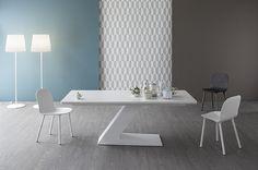 Table TL with chairs NAPI New Collection 2015  By Bonaldo www.bonaldo.it  #bonaldo #furniture #design #table #interior #designer #chair #new #2015 #collection #home #living #italian #madeinitaly #white #comfort #modern