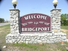 Bridgeport, Texas - Sign on Hwy 380, east side of city | Bridgeport Historical Society