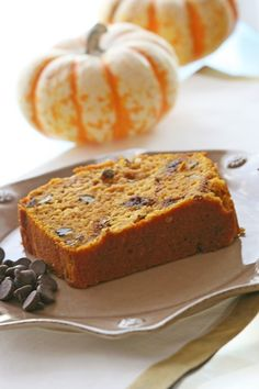 Pumpkin Chocolate Chip Bread with Greek Yogurt - Ingredients, Inc.... this was SO YUMMY! made in an 8x8 pan instead of a bread pan... soooo good!