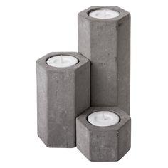 ljushållare betong vändbar 10 cm