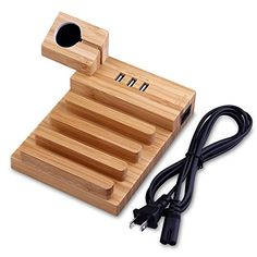 Charging Station 3-Port USB Bamboo Charging Station Dock and Cord Organizer Holder for Smartphones and Tablets- New  https://topcellulardeals.com/product/charging-station-3-port-usb-bamboo-charging-station-dock-and-cord-organizer-holder-for-smartphones-and-tablets-new/  Charging Station : Organized Neatly on Desk and Easier Charge Without Socket. Simply connect your own charging cable and this powerful charging station will charge up to 3 devices. Larger Space and iWatch Sten