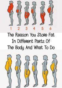 The Reason You Store Fat In Different Parts Of The Body And What To Do