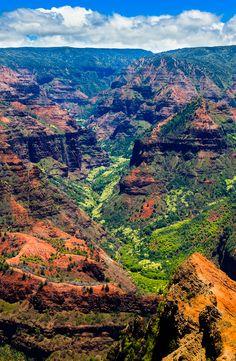 Amazing Waimea Canyon in Kauai, Hawaii Islands.
