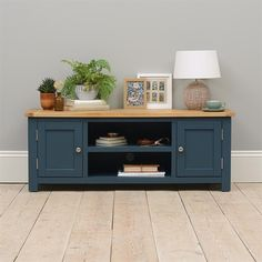 Westcote Blue Corner TV Unit - Up to - The Cotswold Company - Chester Grey Widescreen TV Unit – Up to – The Cotswold Company - Tv Unit Furniture, Blue Furniture, Upcycled Furniture, Furniture Design, Tv Unit Decor, Tv Decor, Home Decor, Large Corner Tv Unit, Blue Tv Stand