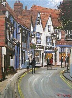 Pete Rumney Art Original Painting Rye East Sussex English Town Handpainted NEW East Sussex, Rye Sussex, Hand Painting Art, Newcastle, Buy Art, Original Paintings, Street View, Hand Painted, The Originals