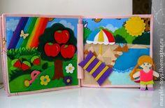 """Развивающие игрушки ручной работы. Ярмарка Мастеров - ручная работа Развивающая книжка """"Времена года"""". Handmade."""