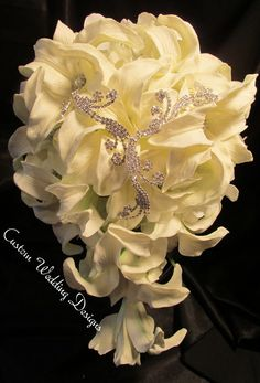 The Ultimate in stunning! This Real Touch Stargazer Wedding Bouquet. by Customweddingdesigns on Etsy