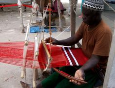 Africa | Weaver at the Tanje Village Museum, Gambia | ©Brimstone