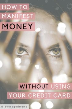 Get total visibility of your expenses so that you can spend more consciously, and be able to manifest money when you need it without using your credit card.