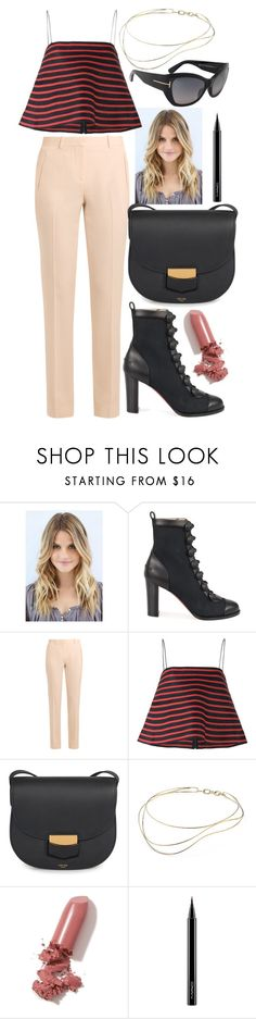 """""""When The First Leaf Falls..."""" by shopunder ❤ liked on Polyvore featuring Christian Louboutin, Givenchy, Rosie Assoulin, CÉLINE, Elsa Peretti, LAQA & Co., MAC Cosmetics and Tom Ford"""
