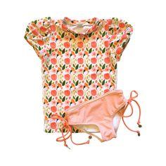 Puff Sleeve Rash Guard Set | Kimi and Li Bikini by Lisa Dorian