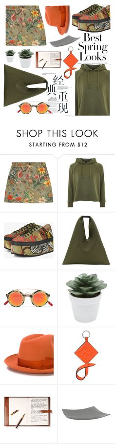 """""""Platform Shoes"""" by bysc ❤ liked on Polyvore featuring H&M, Gucci, Topshop, MM6 Maison Margiela, Frēda Banana, M&Co, Borsalino, Versace and Northern Lights Candles"""