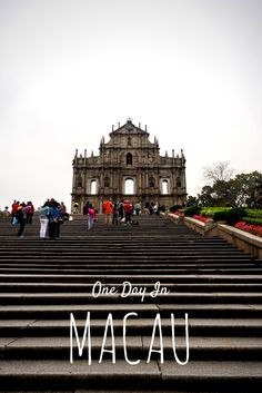 A full one day itinerary in Macau, China - the perfect side trip from Hong Kong.