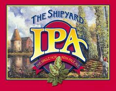 SHIPYARD BREWING CO's FUGGLES IPA - brewed in Portland, Maine USA this beer is a single-hopped ale that satisfies the discriminating India Pale Ale enthusiast.  Wonderfully balanced and deceptively smooth, its complex aromas predominate in a dry, crisp ale.