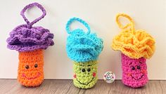 Weekly Wash Crochet Hooks, Free Crochet, African Flowers, Crochet Home Decor, Yarn Tail, Cylinder Shape, Yarn Needle, Craft Fairs, Knitting Projects