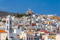 Discover Syros: in the heart of the Aegean, in the Cyclades, a magical island with exceptional beauty is eager to reveal its secrets. Pays Europe, Paris Skyline, New York Skyline, Empire Ottoman, Portugal, Greece Islands, France, Archipelago, Greece Travel