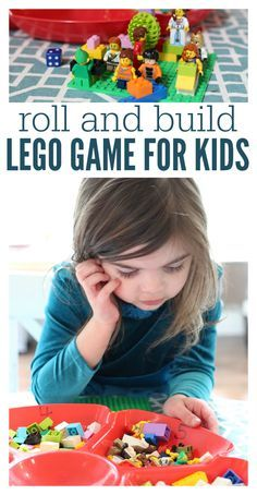 Get creative with this LEGO game for kids. They will also be practicing math skills but shhh! Don't tell them that!