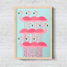 """LANÇAMENTO . Nosso lançamento vai trazer ainda mais cor para o feriado!  O pôster """"Coletivo de Flamingos"""" continua sendo destaque em nossa vitrine vem ver!   http://ift.tt/1dqyBxz - Pôsteres coloridos e modernos para você transformar a sua decoração.  - #nacasadajoana #abaixoasparedesvazias #pôster #posters #quadros #enquadrados #design #decoração #decor #interiordesign #pinterest #meunacasadajoana #casa #lar #flamingos"""
