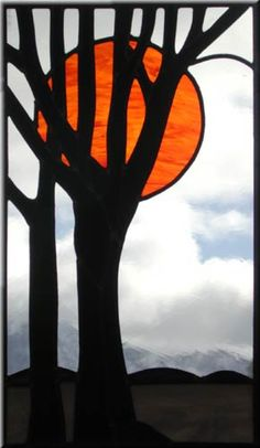 Nice black stained glass tree