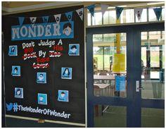 Create portrait Write a description of the character Wonder Bulletin Board, Library Bulletin Boards, Bulletin Board Display, Middle School Libraries, Middle School Classroom, New Classroom, Classroom Decor, Wonder Novel, Wonder Book