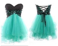 lime green with blue lace prom dress - Google Search