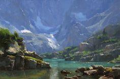 """""""Lake of Glass (study)"""", 12z18, oil, Dave A. Santillanes"""