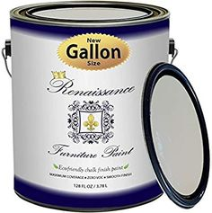 Renaissance Chalk Finish Paint - Malachite - Gallon - Chalk Furniture & Cabinet Paint - Non Toxic, Eco-Friendly, Superior Coverage Light Gray Paint, Gray Chalk Paint, Chalk Paint Furniture, Cabinet Furniture, Furniture Refinishing, Renaissance Furniture, Ceramic Knobs, Milk Paint, Painting Cabinets