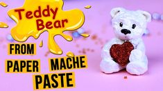 How to make teddy bear from paper mache paste. Today we'll share with you a very usefull recipe. You will learn how to make diy paper mache clay and then you. Paper Mache Paste, Paper Mache Bowls, Paper Mache Clay, Paper Mache Crafts, Paper Mache Sculpture, Glue Crafts, Watermelon Crafts, Flower Vase Making, Making Paper Mache