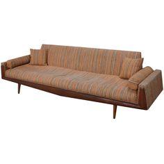 Adrian Pearsall; Walnut Frame Sofa for Craft Associates, 1960s.