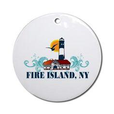 Fire Island Ornament (Round) on CafePress.com
