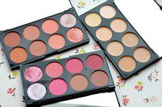 Makeup Revolution Ultra Blush Palette in Sugar and Spice, Ultra Blush Palette in Hot Spice and Ultra Cover and Concealer Palette in Light