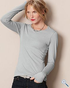 Long-Sleeve Crew by LA Made $24.00