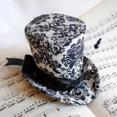 Gothic Voodoo Mini Top Hat in Black and by RagDolliesMadhouse. €51,00, via Etsy.