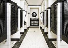 men's locker room showers- kind of cool!: