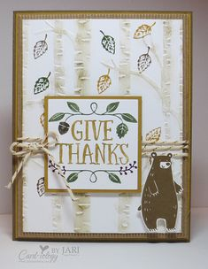Thankful Forest Friends for Fall by Jari - Cards and Paper Crafts at Splitcoaststampers