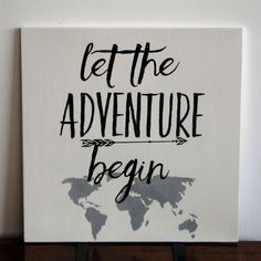 Let the Adventure Begin Wood Word Art Sign New by DazzlingWordArt