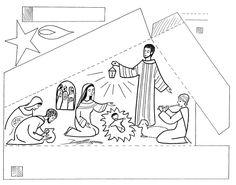 Nativity Clipart, Nativity Crafts, Christmas Nativity, Christmas Crafts For Kids, Xmas Crafts, Christmas Colors, Christian Crafts, Christian Kids, Catholic Crafts