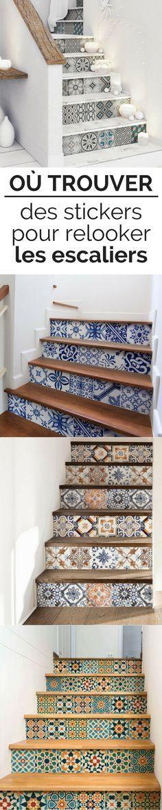 Où trouver des stickers imitation carreaux de ciment pour relooker des escaliers ?