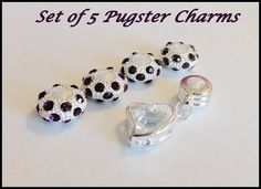 'Set of 5 Pugster Euro Charms' is going up for auction at 12pm Fri, Jan 11 with a starting bid of $5.