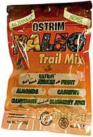 Ostrim Paleo Trail Mix Snack with Balanced Nutrition. 8 Grams of protein, Gluten Free and no MSG, 160 calories. 10-3 oz pouches per box.