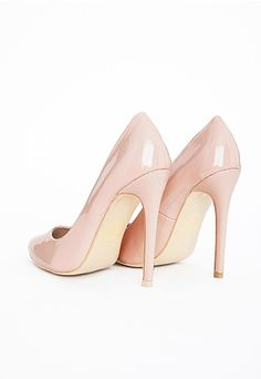 Isabel Pointed Stiletto Court Heels Nude Patent - Courts - Missguided | Ireland