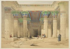 William Brockedon (1787-1854), 'Egypt and Nubia', Vol. 1 / from drawings made on the spot by David Roberts; historical descriptions by William Brockendon; lithographed by Louis Haghe (1846)