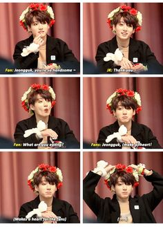 BTS Jungkook at a fansign... So cuuute