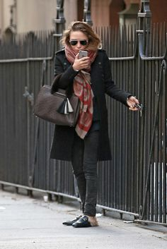 Mary-Kate Olsen Goes Cozy Cool In NYC With Gucci Fur-Lined Mules