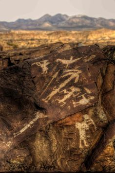 Petroglyphs, High Desert of New Mexico.