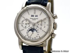Patek Philippe , Perpetual Calendar Chronograph, Ref. 3970EG, 18k White Gold, Bj. 2002. Location	Germany, München  Price	 € 89,500