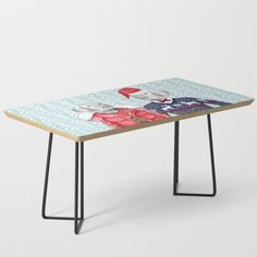 """Built with mid-century modern styling, our coffee table complements any interior aesthetic—from vintage to contemporary. Best of all, the minimalist design lets the artwork shine as your new centerpiece. Legs are available in black or gold options.    - 35.75"""" x 17.75"""" x 17"""" (H)  - Baltic birch table top with beveled edge   - High quality print with satin finish   - Steel legs available in black or gold   - Assembly required    #### Please note:... Mid-century Modern, Contemporary, Weimaraner, Baltic Birch, Satin Finish, Ugly Christmas Sweater, Minimalist Design, Centerpiece, Mid Century"""